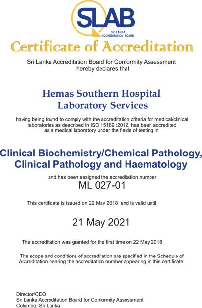 Awards Hemas Lab